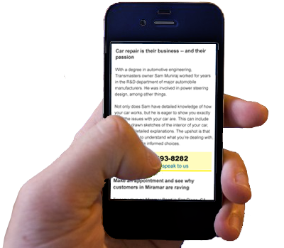 mobile-friendly clickable phone number