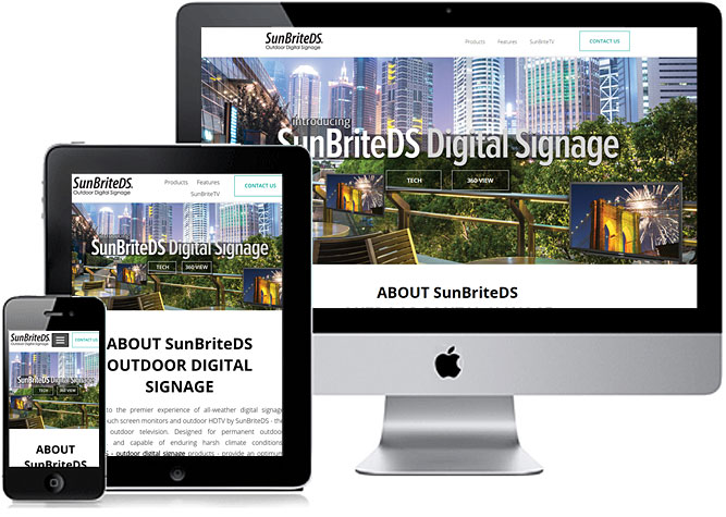 responsive site example, phone, tablet, desktop screens