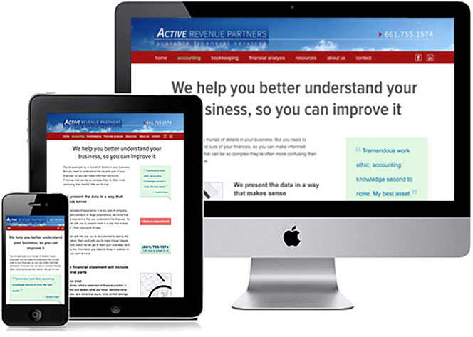 Website on computer, phone, and tablet