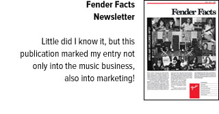 Fender Facts Newsletter cover, with blurb