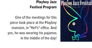 Playboy Jazz Festival Cover with blurb