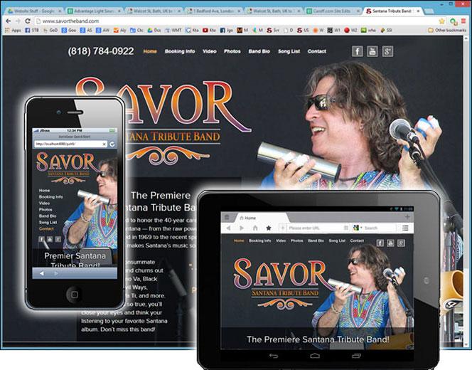 Website on computer, tablet, phone