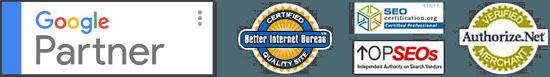 Certifications badges