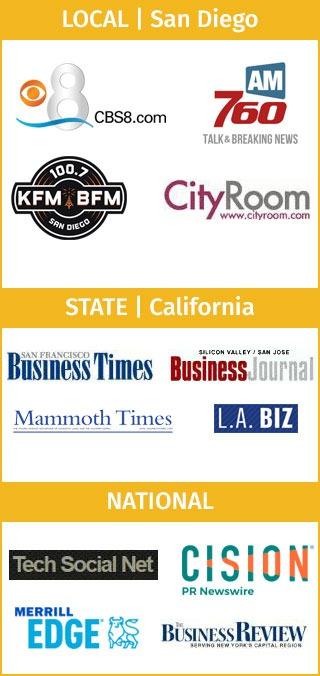 Montage of press logos