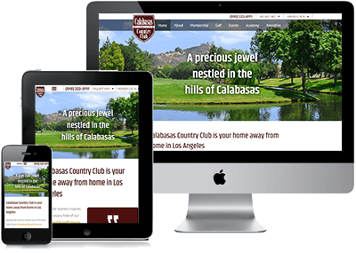 Calabasas Country Club site on multiple devices