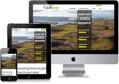 Golf Guide site in multiple devices