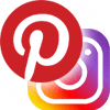 Pinterest and Instagram logos