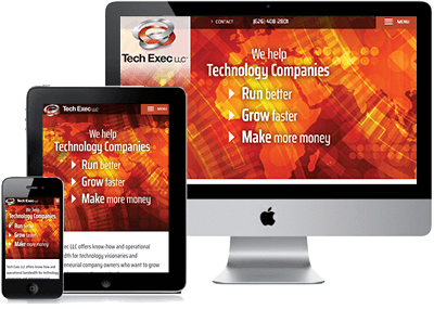 Example of Tech Exec site on 3 devices