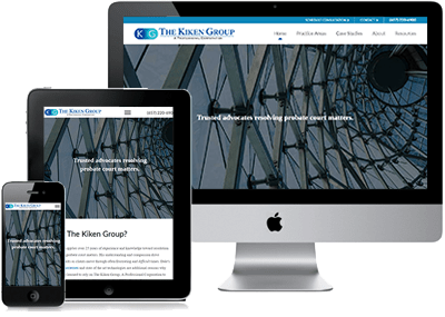 The Kiken Group Website on 3 devices